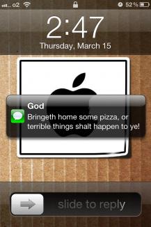 SMS von Gott