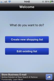 Einkaufsliste Teilen